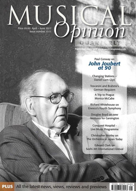 "Musical Opinion featured article ""John Joubert at 90"""